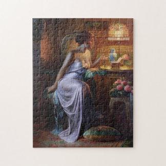 Carlier: Señora elegante con el collar Puzzles