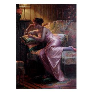 Carlier: Señora elegante con el espejo Tarjetas De Visita Grandes