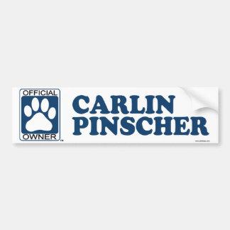 Carlin Pinscher Blue Bumper Sticker