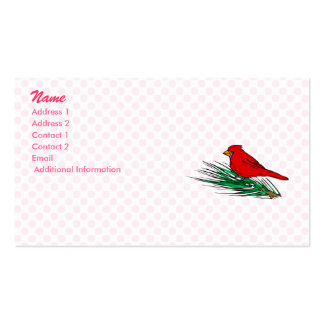 Carlina Cardinal Double-Sided Standard Business Cards (Pack Of 100)