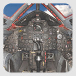 Carlinga de aviones del mirlo SR71 Pegatina Cuadradas Personalizada