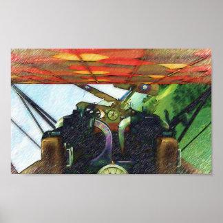 Carlinga de Fokker Poster