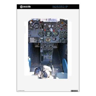 Carlinga del avión de combate calcomanías para iPad 2