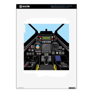 Carlinga del avión de combate pegatinas skins para iPad 3