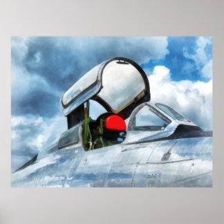 Carlinga del turborreactor de Thunderstreak Póster