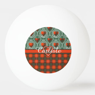 Carlisle clan Plaid Scottish kilt tartan Ping-Pong Ball