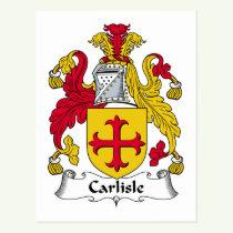 Carlisle Family Crest Postcard