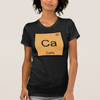 Carlo Name Chemistry Element Periodic Table T-Shirt