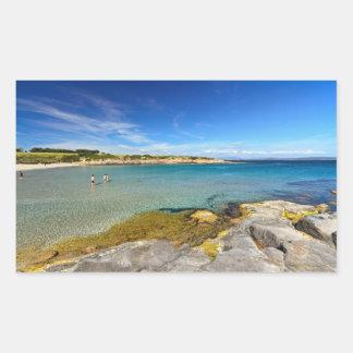 Carloforte - La Bobba beach Rectangular Sticker