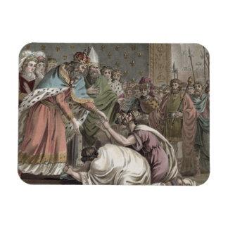 Carlomagno (742-814) recibe a los embajadores para imanes flexibles