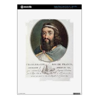 Carlomagno (747-814), rey de Francia, grabó cerca iPad 3 Pegatina Skin