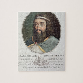 Carlomagno (747-814), rey de Francia, grabó cerca Rompecabezas
