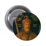 Carlomagno por el botón de Dürer Pinback Pin Redondo De 2 Pulgadas