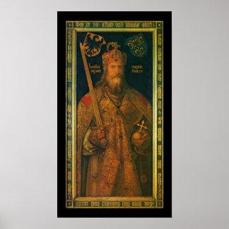 Carlomagno por la impresión del poster de Dürer