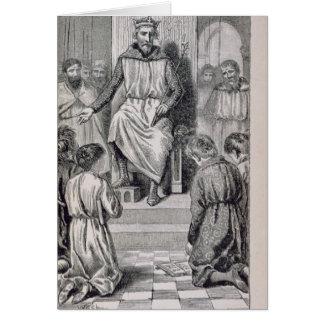Carlomagno y los muchachos tarjeta de felicitación