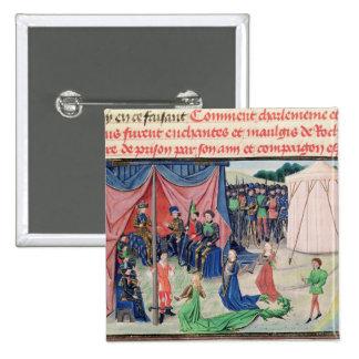 Carlomagno y sus barones que son encantados pin cuadrada 5 cm
