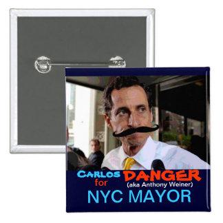 Carlos (aka Anthony Weiner) Danger Pinback Button