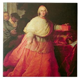 Carlos cardinal de Borja, c.1721 (aceite en lona) Azulejo Cuadrado Grande