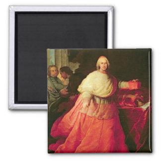Carlos cardinal de Borja, c.1721 (aceite en lona) Imán Cuadrado