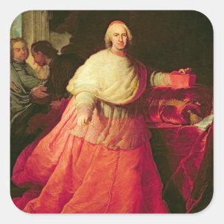 Carlos cardinal de Borja, c.1721 (aceite en lona) Pegatina Cuadrada