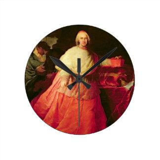 Carlos cardinal de Borja, c.1721 (aceite en lona) Reloj Redondo Mediano