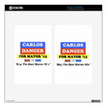 Carlos Danger For Mayor '13 Best Weiner Win Decals For Kindle Fire