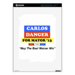 Carlos Danger For Mayor '13 Best Weiner Win iPad 3 Skin