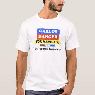 "Carlos Danger For Mayor '13 ""Best Weiner Win"" T-Shirt"