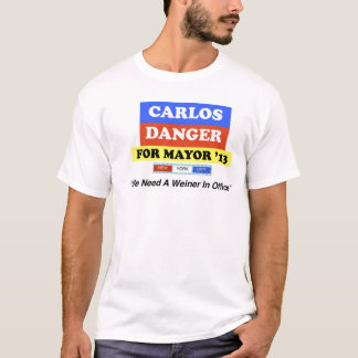 """Carlos Danger For Mayor '13 """"Weiner In Office"""" NYC T-Shirt"""