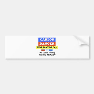 Carlos Danger For Mayor NYC Play With Weiner Bumper Sticker