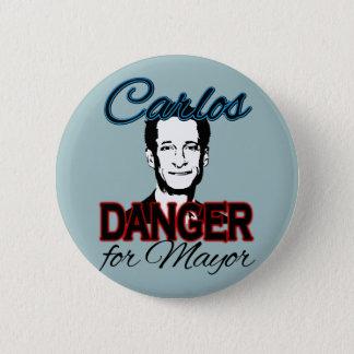 Carlos Danger for Mayor Pinback Button