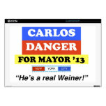 Carlos Danger For NYC Mayor He's A Real Weiner Laptop Decals