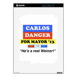Carlos Danger For NYC Mayor He's A Real Weiner iPad 2 Decal