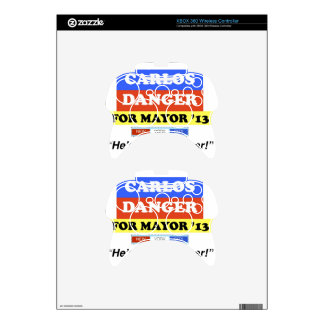 Carlos Danger For NYC Mayor He's A Real Weiner Xbox 360 Controller Skin