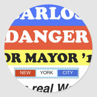Carlos Danger For NYC Mayor He's A Real Weiner Sticker