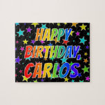 "[ Thumbnail: ""Carlos"" First Name, Fun ""Happy Birthday"" Jigsaw Puzzle ]"
