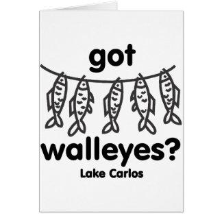 Carlos got walleye cards