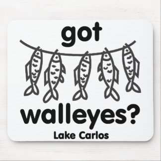 Carlos got walleye mouse pads