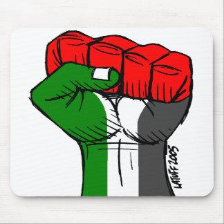 Carlos Latuff's Palestinian Fist Mousepad