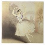 Carlotta Grisi (1819-99) en el ballet del Peri Tejas Cerámicas