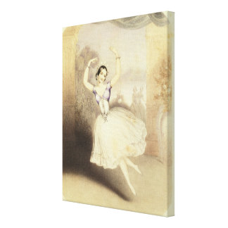 Carlotta Grisi (1819-99) in the Ballet of the Peri Canvas Print