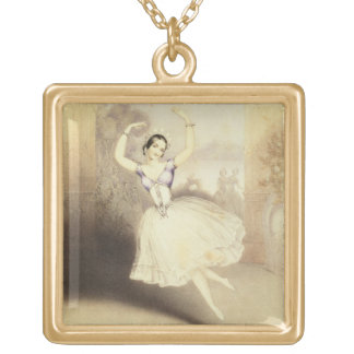 Carlotta Grisi (1819-99) in the Ballet of the Peri Gold Plated Necklace