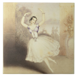 Carlotta Grisi (1819-99) in the Ballet of the Peri Large Square Tile