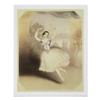 Carlotta Grisi (1819-99) in the Ballet of the Peri Poster