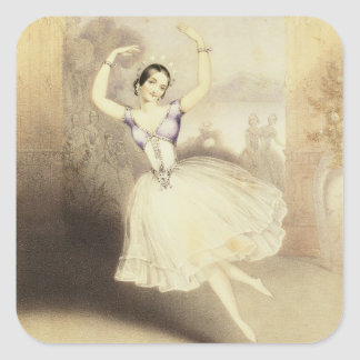 Carlotta Grisi (1819-99) in the Ballet of the Peri Square Sticker
