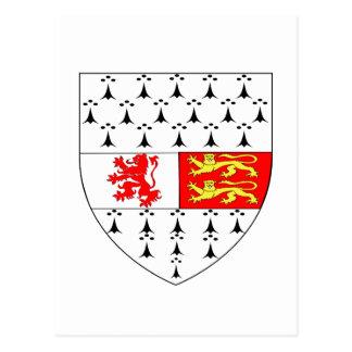 Carlow County Crest Official Symbol Ireland Irish Postcard