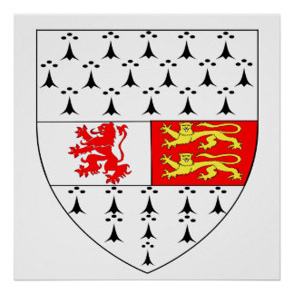 Carlow County Crest Official Symbol Ireland Irish Poster