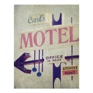 Carl's Retro Motel Sign Letterhead
