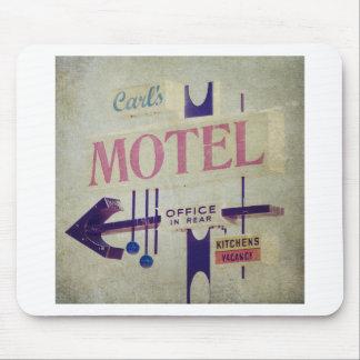 Carl's Retro Motel Sign Mouse Pad