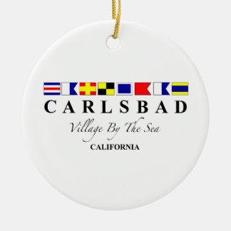 Carlsbad CA - Village By The Sea Ceramic Ornament